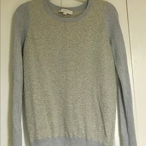 Loft gold and grey sweater
